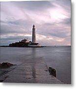 Lighthouse Before Sunrise Metal Print