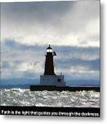 Lighthouse Faith Metal Print