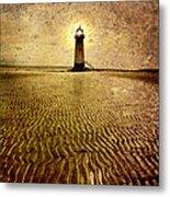 Lighthouse Grunge Metal Print