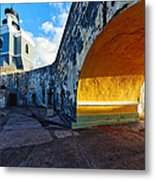Lighthouse In Fort El Morro Metal Print