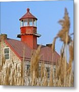 Lighthouse In Wheat Field Metal Print