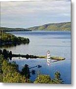 Lighthouse On Boulardarie Island Metal Print