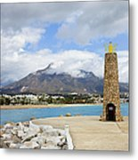 Lighthouse On Costa Del Sol In Spain Metal Print