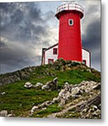 Lighthouse On Hill Metal Print