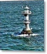 Lighthouse On The Blue Sea Metal Print