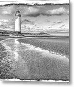 Lighthouse Reflected Metal Print