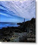 Lighthouse Sky Metal Print