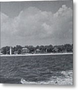 Lighthouse View From The Sea Metal Print