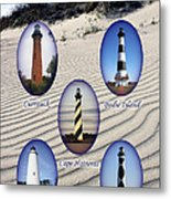 Lighthouses Of The Outer Banks Metal Print