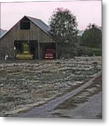 Lightly Colored Barn Metal Print