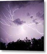 Lightning Burst Metal Print
