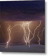 Lightning Dance Metal Print