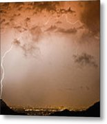 Lightning Dome Metal Print