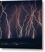 Lightning Near Barstow, California Metal Print
