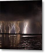 Lightning Panorama Metal Print