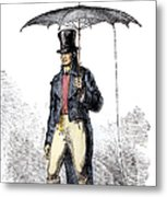 Lightning Rod Umbrella Metal Print