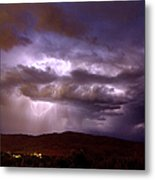 Lightning Strikes During A Thunderstorm Metal Print