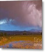 Lightning Striking Longs Peak Foothills 7 Metal Print