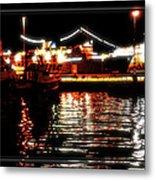 Lights Of Harbor Metal Print