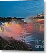 Lights On Niagara Metal Print