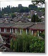 Lijiang Rooftops Metal Print