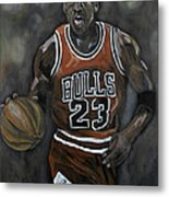 Like Mike Metal Print by Brad Coleman