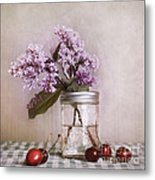 Lilac And Cherries Metal Print
