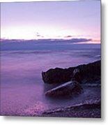 Lilac Beach Metal Print