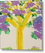 Lilac Lavender Tree Metal Print
