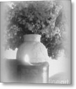 Lilacs In Candlelight Metal Print