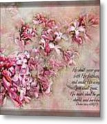 Lilacs With Verse Metal Print