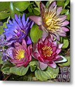 Lilies No. 11 Metal Print by Anne Klar
