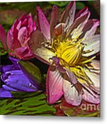 Lilies No. 20 Metal Print by Anne Klar