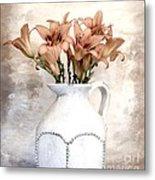 Lilies Pitcher Metal Print