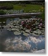 Lillies And Clouds Metal Print