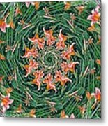 Lilly In Abstract Metal Print