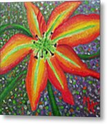 Lily In My Garden Metal Print
