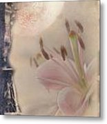 Lily In The Moonlight Metal Print