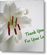 Lily Thank You 2 Metal Print
