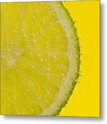 Lime Slice Soda 1 Metal Print