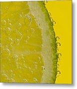 Lime Slice Soda 2 Metal Print