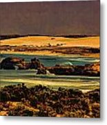 Limestone Sculptured By Nature Metal Print