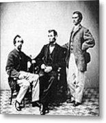 Lincoln & Secretaries, Metal Print