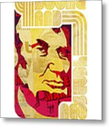 Lincoln 4 Score On White Metal Print