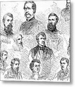 Lincoln Assassins Trial Metal Print