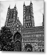 Lincoln Cathedral Facade Metal Print