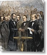 Lincoln Inauguration, 1865 Metal Print by Granger