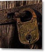 Lincoln Lock Metal Print
