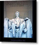 Lincoln Memorial Metal Print by Jim McDonald Photography