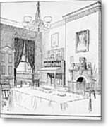 Lincoln: White House Office Metal Print